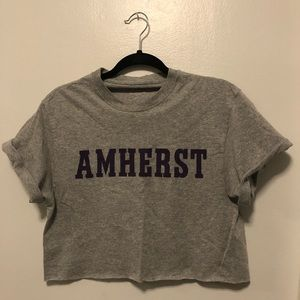 Cropped Amherst College Tee